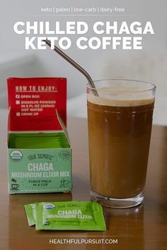 A deliciously fatty decaf coffee, chilled and blended with MCT oil powder, supercharged with Chaga Mushroom Elixir to support your immune system and help you tackle the day ahead! Free Keto Recipes, Low Carb Recipes, Healthy Coffee Drinks, Starbucks, Protein Coffee, Coffee Maker Machine, Vegetarian Keto, Vegan Keto, Diet Plan Menu
