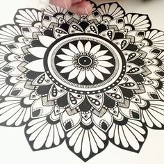 """""""A mandala is the psychological expression of the totality of the self."""" -C.G. Jung-"""
