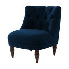 Sorgen Sie für einen eleganten Akzent in Ihrem Zuhause: Dieser Sessel ist durch seine klassische Polsterung samt Knöpfen und edle Farbe eine zeitlose Berei...