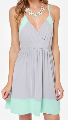 Mint & Grey Dress