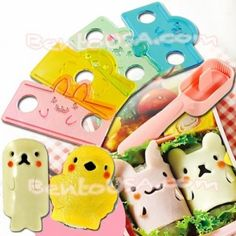 cut cheese or lunch meat into cute animals