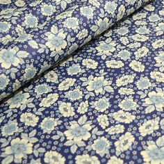 Italian Decorative Paper - Blue Floral Pattern