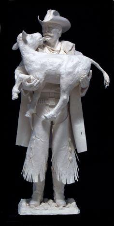 "Saved From the Flood""-paper cast,  freestanding by Allen & Patty Eckman, Eckman fine Art"