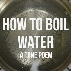 How to Boil Water A Tone Poem in Video  Video Tips from the Kitchn