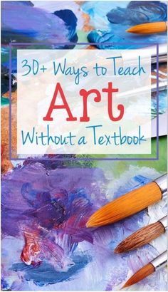 Ways to Teach Art Without a Textbook - incorporate hands-on art and art history in your homeschool! Ways to Teach Art Without a Textbook - incorporate hands-on art and art history in your homeschool! High School Art, Middle School Art, Programme D'art, Classe D'art, Ecole Art, Art Curriculum, School Art Projects, Art Education Projects, Art Education Lessons