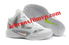 Nike Zoom Hyperfuse 2011 Shoes White Wolf/Grey Volt Metallic Luster