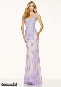 Prom Dress 98085 Beaded Lace Appliques on Net