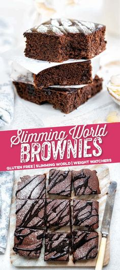Looking for the best Slimming World Brownies? These super-easy healthy brownies are very low in syns but high on chocolate satisfaction. Slimming World Chocolate Cake, Slimming World Brownies, Slimming World Cake, Slimming World Desserts, Slimming World Recipes Syn Free, Biscuit Recipes Uk, Cake Recipes Uk, Snack Recipes, Cooking Recipes