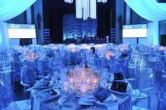 Ronald McDonald House Toronto hosted its annual holiday-time gala at the Carlu in December. McNabb Roick Events reflected the Holiday Chic: Sparkle theme in sequined table linens and the crystal candle holders that served as centerpieces.