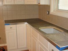 DIY ceramic tile countertops