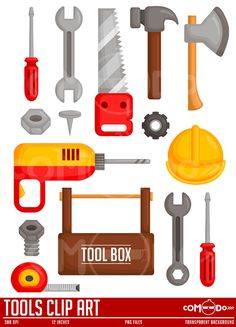 Tools Clipart / Digital Clip Art for Commercial and by comodo777