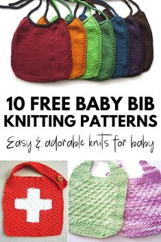 10 Easy and Adorable FREE Bib Knitting Patterns for Baby #knitting #free #patterns #baby #babybib #bib