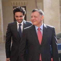 Crown Prince Hussein with his father King Abdullah II of Jordan.