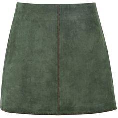 George J. Love Mini Skirt (220 BRL) ❤ liked on Polyvore featuring skirts, mini skirts, bottoms, green, jupe, stretchy mini skirts, stretch mini skirt, short mini skirts, zipper mini skirt and short skirts