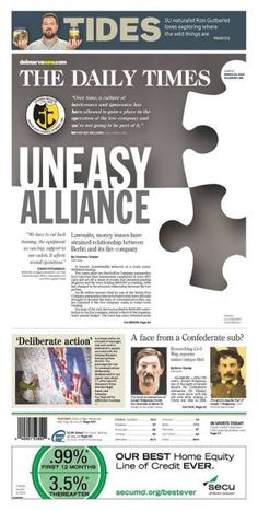Uneasy alliance, The Daily Times, by Dani Cherchio #newsdesign