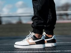 Mix up your rotation from the classic, simple colourways with this Nike Air Force 1 07 Grey Gold featuring a new look for the upcoming season. Air Force 1, Nike Air Force, Grey And Gold, Grey Leather, Snake, Pullover, Metal, Heels, Stuff To Buy