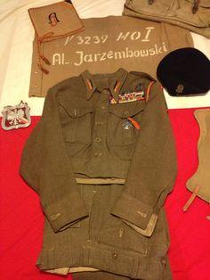 Uniform belonging to A. Division, Ww2, Military Jacket, Polish, History, Organization, Field Jacket, Vitreous Enamel, Historia