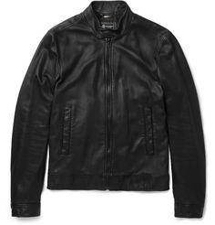 Dolce & Gabbana Lightweight Leather Bomber Jacket   MR PORTER