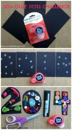 2014 Glue Dots Craft Stash Challenge   Laura Kelly's Inklings #crafting #scrapbooking #DIY