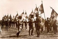 Greek Infantry Flags 1921