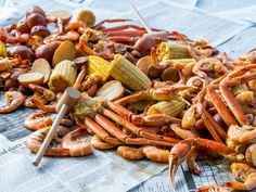 Food network recipes 190980840436331651 - Get Low Country Boil Recipe from Food Network Source by carolgagnon Seafood Boil Recipes, Seafood Seasoning, Seafood Dishes, Fish Recipes, Steak Recipes, Shrimp Recipes, Party Recipes, Copycat Recipes, How To Cook Kielbasa
