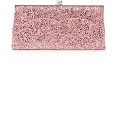 Victoria Beckham Glitter Pochette (£1,035) ❤ liked on Polyvore featuring bags, handbags, clutches, pink, glitter handbag, pink glitter purse, pink handbags, victoria beckham purses and white handbag