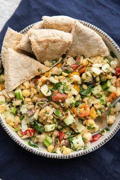 Mediterranean Chickpea Salad | @naturallyella