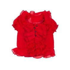 Trish Scully Child Tartan Holiday Red Ruffled Blouse-Designer Girl Clothes only $42.00 - New Items