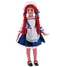Yarn Babies Rag Doll Costume - Kids, Girl's, Size: Small, Multicolor