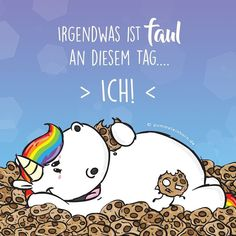 """1,504 Likes, 9 Comments - Pummeleinhorn (@pummeleinhorn_kekse) on Instagram: """"Markiert jemanden, der auch faul war heute. ☝ www.pummeleinhorn.de #pummeleinhorn #pummel…"""""""