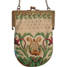 Scenic Beaded Purse, 2 different sides, tiny beads, wonderful detail