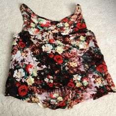 Cute tank top shirt size M Really cute top size M. Brand new with tags metal Tops Tank Tops