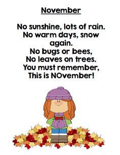 November Poem FREEBIE from GradeONEderful.com