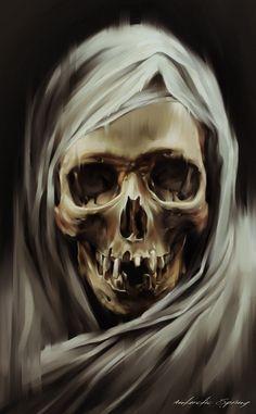 the face of death Dark Fantasy, Fantasy Art, Arte Horror, Horror Art, Art Harley Davidson, Tattoo Caveira, Skull Reference, Totenkopf Tattoos, Skull Art