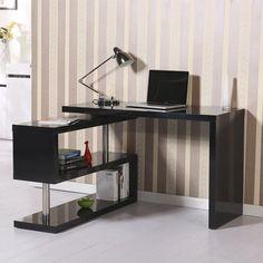 Rotating L-Shape Computer Desk