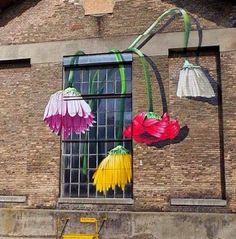 Flower Power - graffiti created for Winterthur's Urban Art Festival , artwork by Chromeo .England