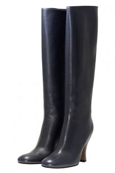 Love the idea of navy knee-high boots. Just as versatile, but takes it beyond basic black and brown.