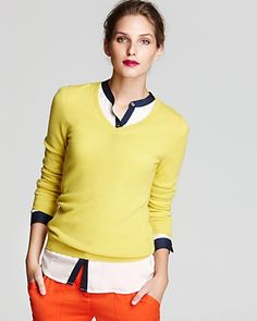 C by Bloomingdale's Cashmere Long Sleeve V Neck Sweater   Bloomingdale's