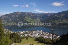 #View To #ZellAmSee #Lake #Zell & #Kitzsteinhorn @depositphotos #depositphotos #nature #landscape #mountains #hiking  #travel #summer #season #sightseeing #vacation #holidays #leisure #outdoor #view #wonderful #beautiful #panorama #stock #photo #portfolio #download #hires #royaltyfree
