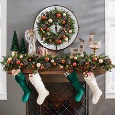 Wall Hanging Christmas Tree, Indoor Christmas Decorations, Christmas Mantels, Rustic Christmas, Christmas Holidays, Halloween Decorations, Room Decorations, Wreath Stand, Garland