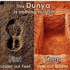 We all will die and you can't hide from it. It will find u when least expectant. Do what's right before its too late.