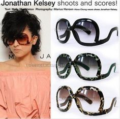 100% UV resistance material Vintage style  Curved legs square women sunglasses(5color mix) SN-010 $4.50