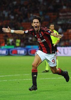 Pippo Inzaghi's goal celebration