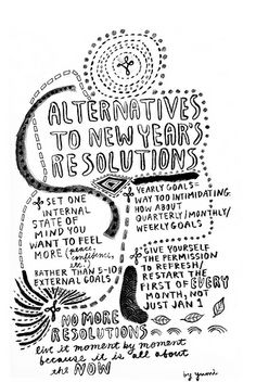 Are you tired of making New Year Resolutions, only to discard them in weeks? Here are some alternatives... #NewYearResolutionAlternatives