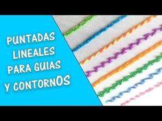 PASO A PASO PUNTADAS LINEALES O DE CONTORNO *Bordando Con Estilo* - YouTube