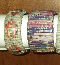 pulsera papel trenzado