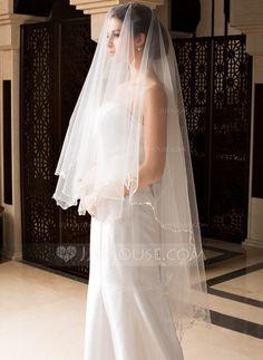 [US$ 8.39] Uno capa Velos de novia vals con Lápiz (006036663)