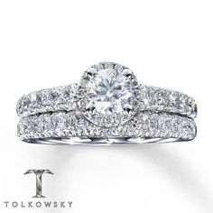 Left Tolkowsky Signature Ideal Cut Round Brilliant Diamond Set In White Gold Right S