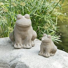 Frog Statue Yard Art Garden Stone Statues Outdoor Decor Large <3 Click the image to find out more