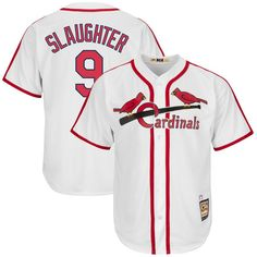 Enos Slaughter St. Louis Cardinals Majestic Cooperstown Collection Cool Base Replica Player Jersey - White